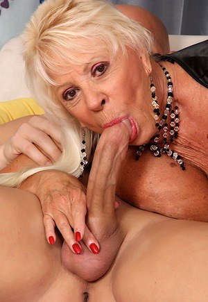 plays with big cock Granny