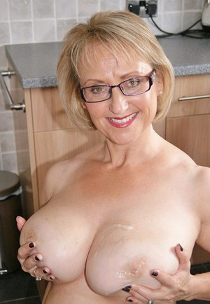 tits on with Granny cum her